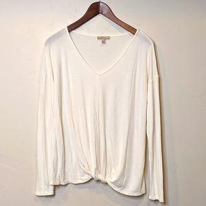 Bordeaux cream knit tee shirt